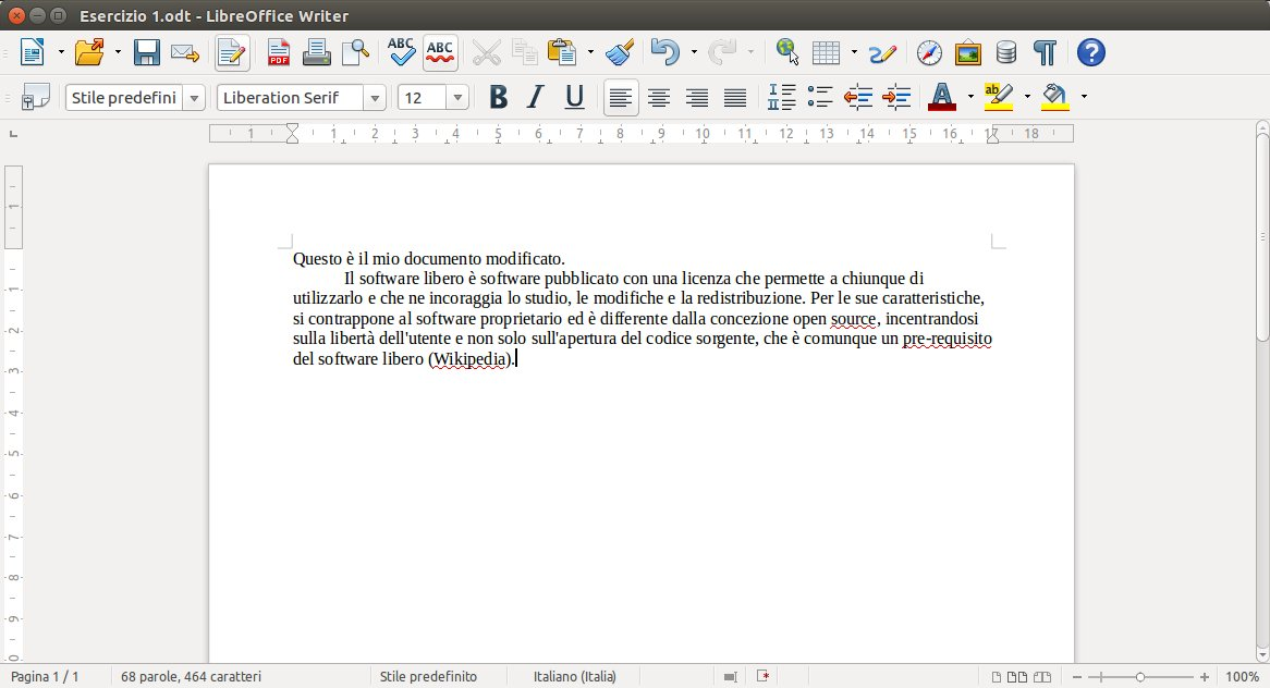 Documento modificato